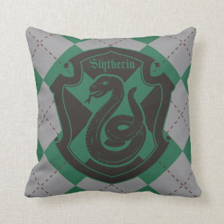 Harry Potter | Slytherin House Pride Crest Throw Pillow