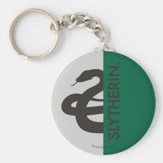 Harry Potter | Slytherin House Pride Graphic Basic Round Button Keychain