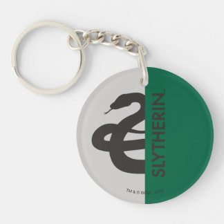 Harry Potter | Slytherin House Pride Graphic Double-Sided Round Acrylic Keychain