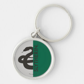 Harry Potter | Slytherin House Pride Graphic Silver-Colored Round Keychain