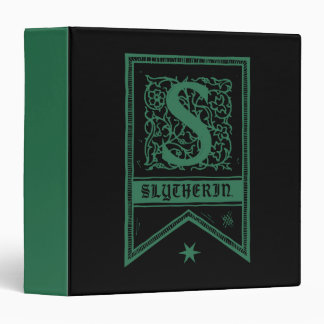 Harry Potter | Slytherin Monogram Banner 3 Ring Binder