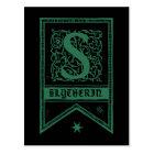 Harry Potter | Slytherin Monogram Banner Postcard