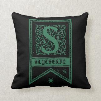 Harry Potter | Slytherin Monogram Banner Throw Pillow