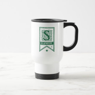 Harry Potter | Slytherin Monogram Banner Travel Mug