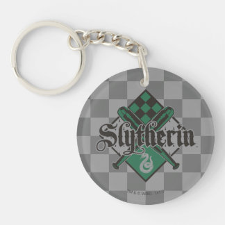 Harry Potter | Slytherin Quidditch Crest Double-Sided Round Acrylic Keychain