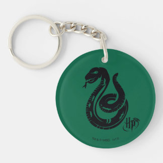 Harry Potter | Slytherin Snake Icon Double-Sided Round Acrylic Keychain