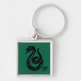 Harry Potter | Slytherin Snake Icon Silver-Colored Square Keychain