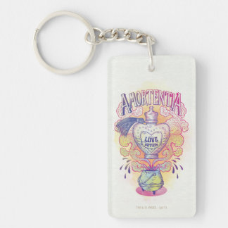 Harry Potter Spell | Amortentia Love Potion Bottle Double-Sided Rectangular Acrylic Keychain