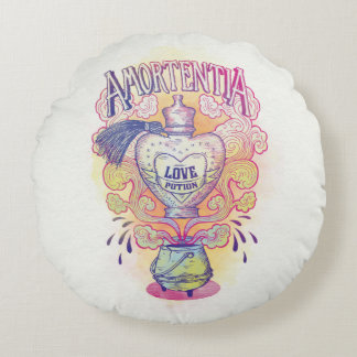 Harry Potter Spell | Amortentia Love Potion Bottle Round Pillow