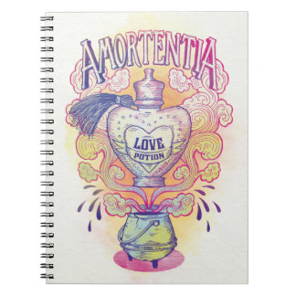 Harry Potter Spell | Amortentia Love Potion Bottle Spiral Note Books