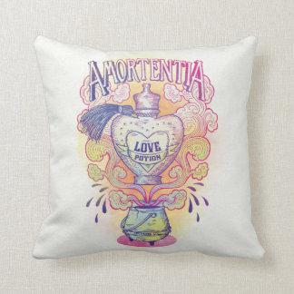 Harry Potter Spell | Amortentia Love Potion Bottle Throw Pillow