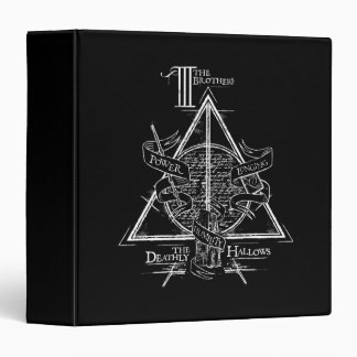 Harry Potter Spell | DEATHLY HALLOWS Graphic 3 Ring Binders
