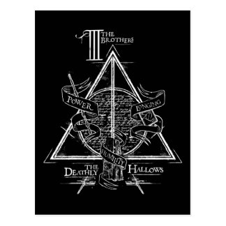 Harry Potter Spell | DEATHLY HALLOWS Graphic Postcard