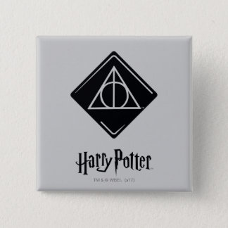 Harry Potter Spell | Deathly Hallows Icon 2 Inch Square Button