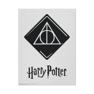 Harry Potter Spell | Deathly Hallows Icon Canvas Print
