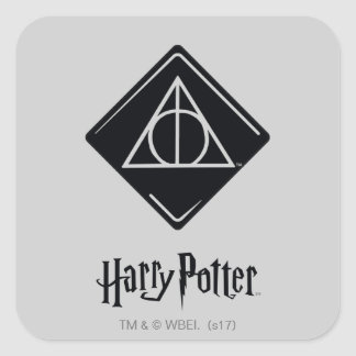 Harry Potter Spell | Deathly Hallows Icon Square Sticker