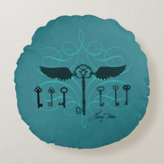 Harry Potter Spell | Flying Keys Round Pillow