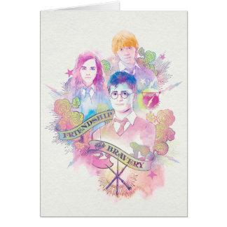 Harry Potter Spell | Harry, Hermione, & Ron Waterc Card