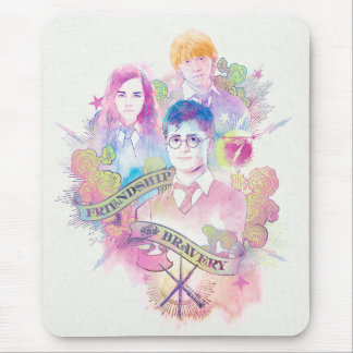 Harry Potter Spell | Harry, Hermione, & Ron Waterc Mouse Pad