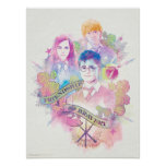 Harry Potter Spell | Harry, Hermione, & Ron Waterc Poster
