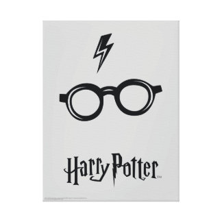 Harry Potter Spell | Lightning Scar and Glasses Canvas Print