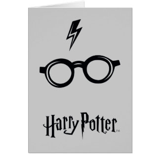 Harry Potter Spell | Lightning Scar and Glasses Card