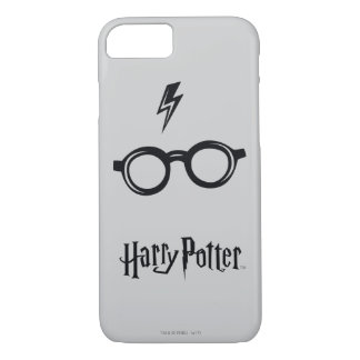 Harry Potter Spell   Lightning Scar and Glasses iPhone 7 Case