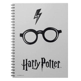 Harry Potter Spell   Lightning Scar and Glasses Notebooks