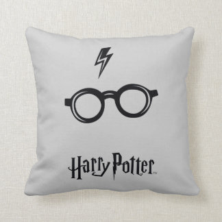 Harry Potter Spell | Lightning Scar and Glasses Throw Pillow