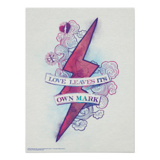 Harry Potter Spell | Love Leaves Its Own Mark Poster