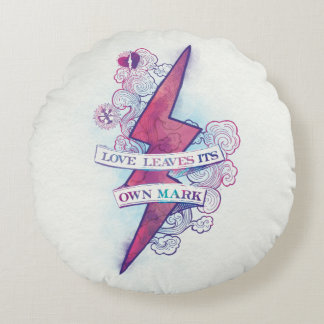 Harry Potter Spell | Love Leaves Its Own Mark Round Pillow