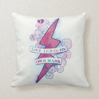 Harry Potter Spell | Love Leaves Its Own Mark Throw Pillow