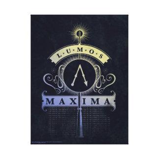Harry Potter Spell | Lumos Maxima Graphic Canvas Print
