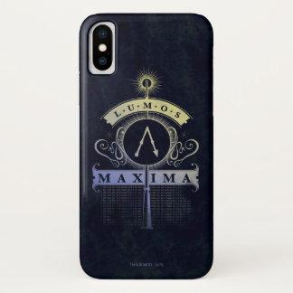 Harry Potter Spell   Lumos Maxima Graphic iPhone X Case
