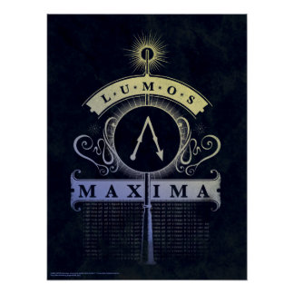 Harry Potter Spell | Lumos Maxima Graphic Poster