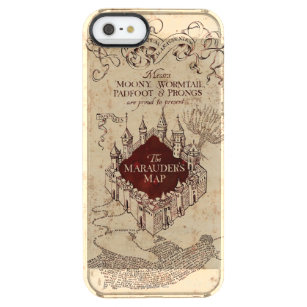 Harry Potter Spell   Marauder's Map Clear iPhone SE/5/5s Case