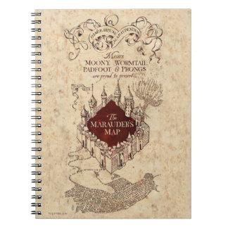 Harry Potter Spell   Marauder's Map Note Books