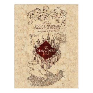 Harry Potter Spell | Marauder's Map Postcard