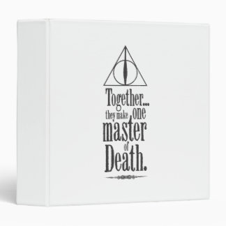 Harry Potter Spell | Master of Death 3 Ring Binders