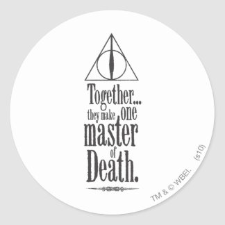 Harry Potter Spell | Master of Death Classic Round Sticker