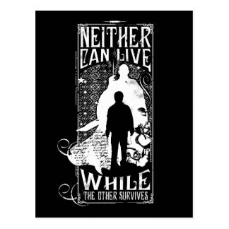 Harry Potter Spell | Neither Can Live Postcard