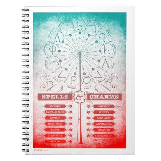 Harry Potter Spell | Spells & Charms Instruction C Spiral Notebook