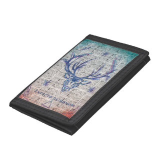 Harry Potter Spell | Stag Patronus Sketch Trifold Wallets