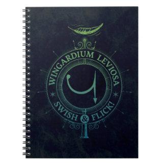 Harry Potter Spell | Wingardium Leviosa Graphic Notebook