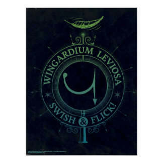 Harry Potter Spell | Wingardium Leviosa Graphic Poster