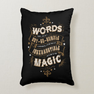 Harry Potter Spell | Words Are Our Most Inexhausti Decorative Pillow