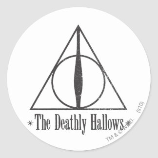 Harry Potter | The Deathly Hallows Emblem Classic Round Sticker