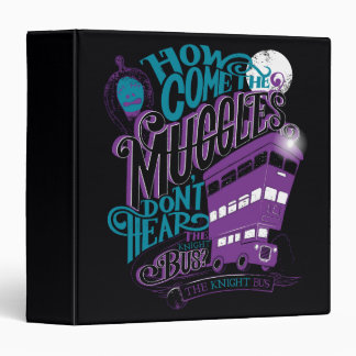 Harry Potter | The Knight Bus Typography Graphic 3 Ring Binder