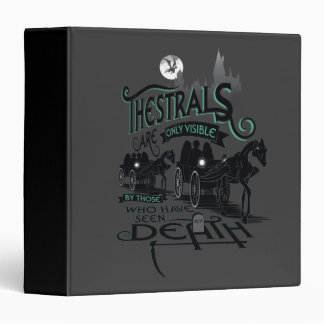 Harry Potter   Thestrals Typography Graphic Binder
