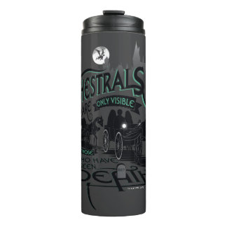 Harry Potter   Thestrals Typography Graphic Thermal Tumbler